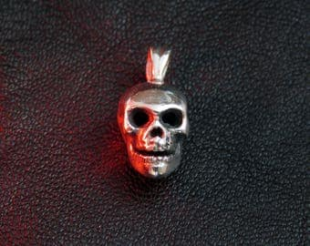 Small silver skull pendant, sterling silver, skull charm, bones, skeleton, silver pendant, silver charm, pendant, neckleces pendant, silver