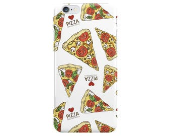 Pizza Love Food White Summer Phone Case Cover for Apple iPhone 5 6 6s 7 8 Plus & Samsung Galaxy