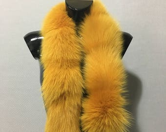 Gorgeous Natural Yellow Fox Small Fur Scarf Collar