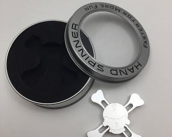 Skull & Cross Bones Metal / Aluminum Fidget Spinner