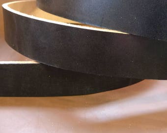 Black Oak Bark Tanned English bridle butt belt blank/bag strap 4.5mm thickness made in England, premium leather