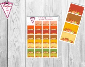 Printable Pumpkin Half Boxes - Functional Stickers w/Cut Line