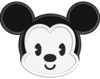 Disney Cuties Mickey Mouse Applique Embroidery Design - INSTANT DOWNLOAD