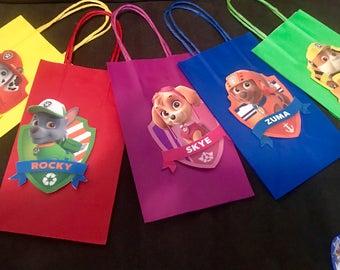 Paw patrol goody bags, favor bag
