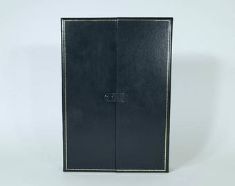 Necklace box - Black Necklace Box - Black Rich Velvet Necklace Box with.