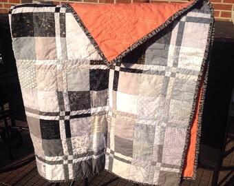 Modern lap quilt