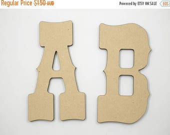 20% OFF 5cm MDF Wood Wooden Letters 3mm Thick WES
