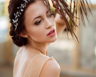 Crystal headband. Bridal Headpiece. Wedding hair accessories. Bridal hair accessories. Wedding Hair Vine. Bridal hair vine