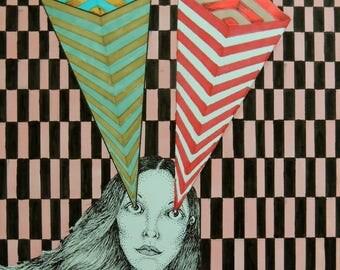 """Poster 18""""x24"""" - """"Miss Perceptive"""""""
