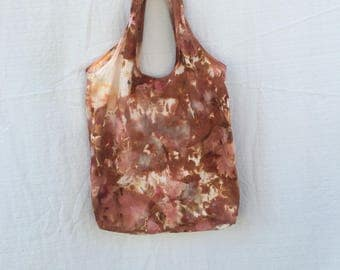 Tie dye shoulder bag/ice dye/hand dyed/purse