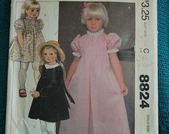 McCalls 8824 Girls dress sz 6