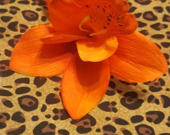 Tiki Tiger Lily Hair Flower Clip