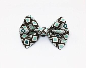 Dog Collar Bow Tie - Fabric Collar Bow Tie - Geometric Collar Bow Tie