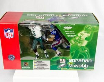 McFarlane's Sportspicks Giants Michael Strahan vs. Eagles Donovan McNabb Figure