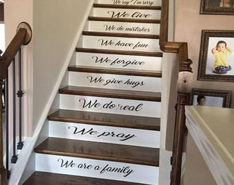 Staircase Wall Decal Etsy - Custom vinyl stickers for walls