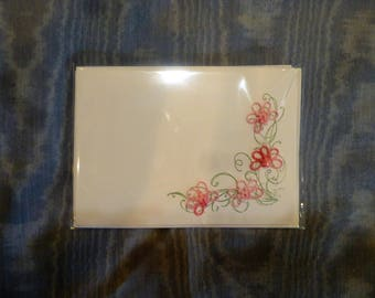 Packet of 4 hand tatted notecards with envelopes included