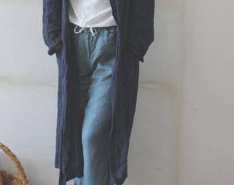 Summer linen long coat MADE IN JAPAN