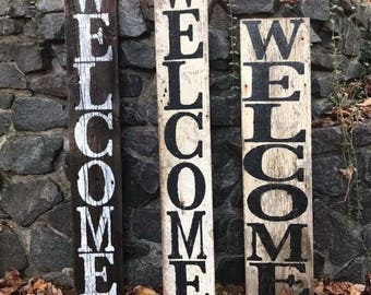 Welcome/Holiday Reversible sign