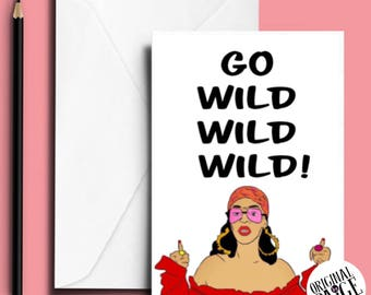 Rihanna wild thoughts greeting card
