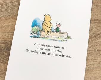 Winnie The Pooh Quote Print
