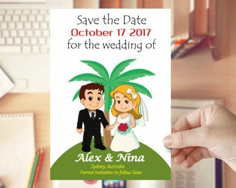 Save The Date Printable Invitation | Printable DIY Invite, Affordable Invitation, Digital Invite
