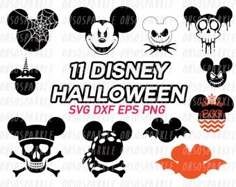 mickey halloween svg, disney halloween, clipart, eps, png, dxf, vector, kids, vinyl cut file, cute, black and white,cricut,mickey mouse