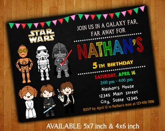 Star Wars Invitations / Star Wars Birthday Party Invitation / Star Wars Digital File / Star Wars Printable / Star Wars