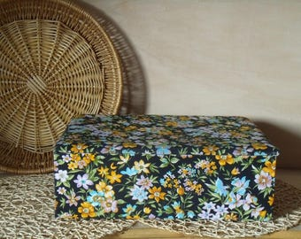 1970's fabric - Sewing - big model - SEVENTIES VINTAGE sewing box