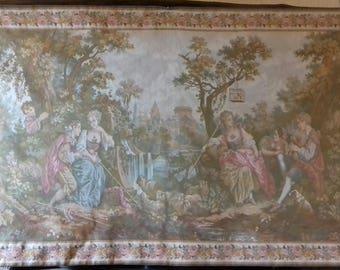 Gobelins tapestry pastoral gallant Jules Pansu Paris love