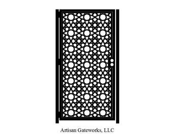 Moroccan Art Gate - Decorative Steel - Mosaic - Moroccan Steel Gate - Mandala Gate - Geometric  Gate - Steel Art Panel