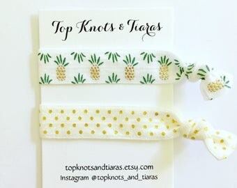 Elastic Hair Ties / Set of 2 / Pineapple Hair Tie