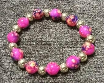 Mix and Match Pink Splatter Bead Set