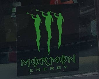 Mormon Energy window decal, car window decal, small