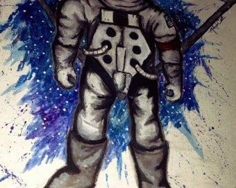 Geometric Space Man