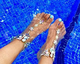 Crystal ankle bracelet