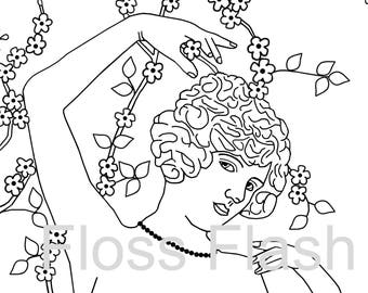 Flirtatious Flowers Embroidery Pattern