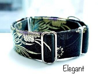 "1.5"" Martingale collar, fancy dog collar, Greyhound collar, Saluki collar, Galgo collar, Whippet collar, sight hound collar"