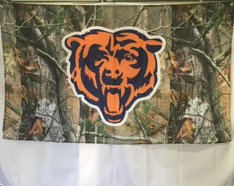 Chicago Bears Camouflage Wall Flag