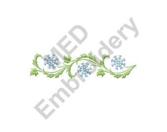 Garland - Machine Embroidery Design, Snowflake Garland