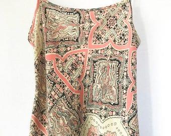 Vintage Bohemian Maxi Dress, Sundress, Size 4 Size 6, Size Small