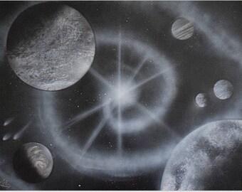 Black and White Spiral Galaxy (Original)