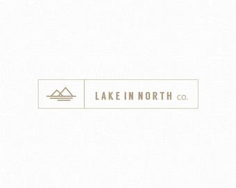 Lake logo - MINIMALIST logo design - Customizable for any business