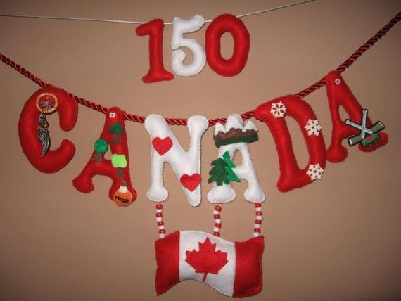 Canada 150 Handcrafted Felt Banner by BrightDewBlossom
