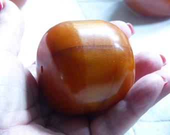 HUGE African Amber Phenolic resin bead; Mauretania, Mali, 132,15 grams !