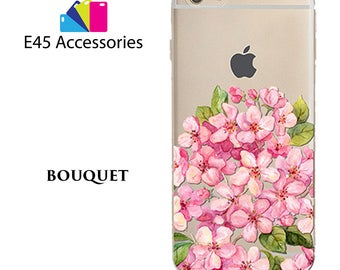 BOUQUET Floral Flower Hard Case for iPhone 5S 5 SE, iPhone 6S 6 or iPhone 7