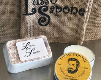 Hand Crafted Beard Kit - Beard & Mustache Wax,  Soap Set
