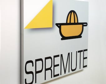 Spremute - Sign, bar sign, italian sign, shop sign, restaurant sign, food sign, kitchen sign, pub sign | Tropparoba - 100% made in Italy