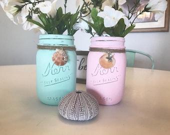 Chalkpaint Distressed Mason Jars