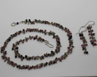 Watermelon Tourmaline Set