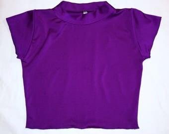 Purple Berry Crop Top